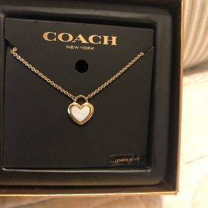 Coach Opal Heart Necklace